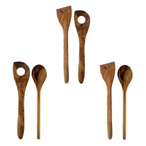 Made in Italy Olive Wood Utensil, Risotto Spoon, Versatile Spoon and Spatula. Artisan Product